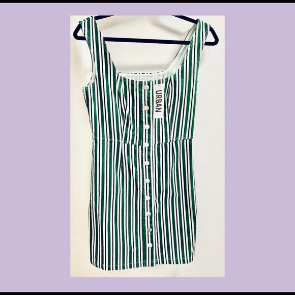Urban Outfitters Corduroy Striped Mini Dress